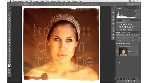 Organizing layers into groups: Photoshop CC 2015 for Photographers: Fundamentals