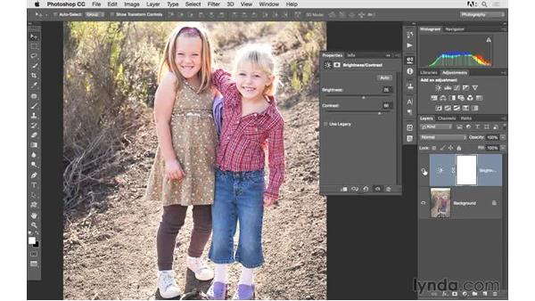 Adding brightness and contrast: Photoshop CC 2015 for Photographers: Fundamentals