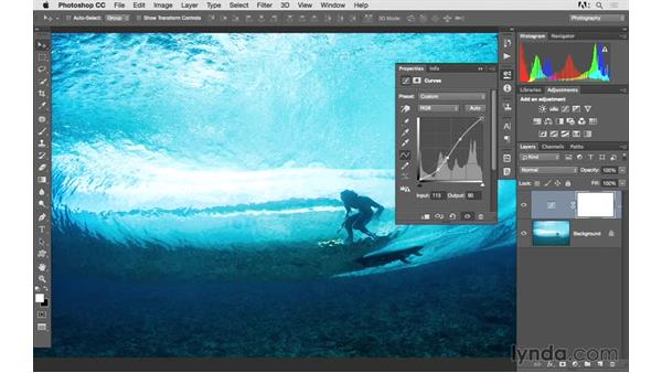 Fine-tuning an image with Curves: Photoshop CC 2015 for Photographers: Fundamentals