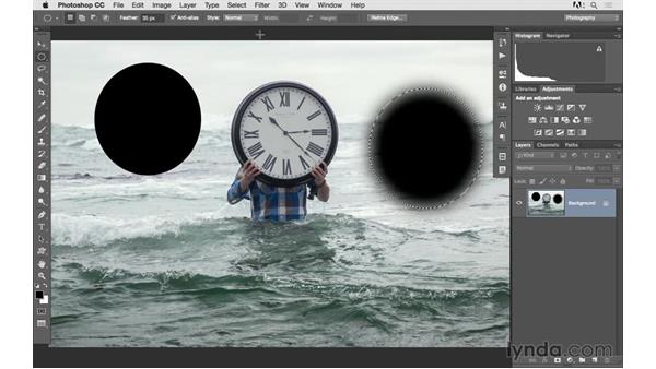 Using the selection tools: Photoshop CC 2015 for Photographers: Fundamentals