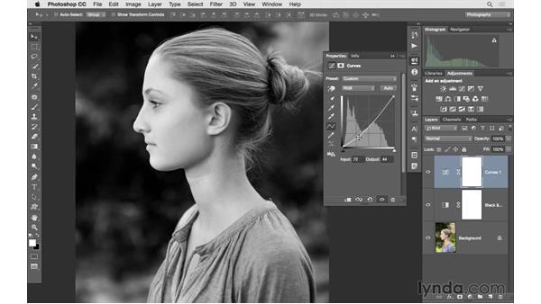 Making a strong black-and-white portrait: Photoshop CC 2015 for Photographers: Fundamentals
