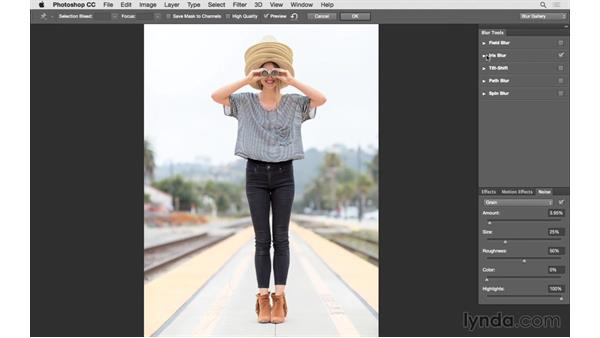 Changing focus with the Blur Gallery: Photoshop CC 2015 for Photographers: Fundamentals
