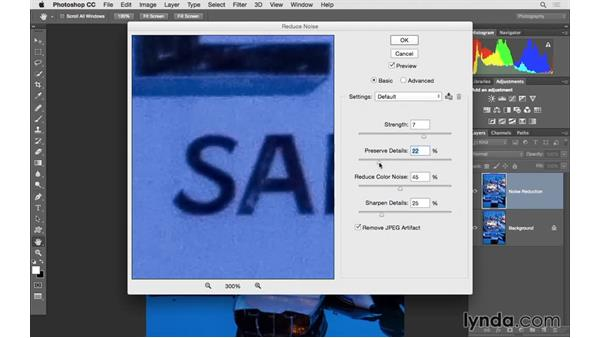 Reduce unwanted noise in Photoshop: Photoshop CC 2015 for Photographers: Fundamentals