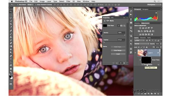 Masking and sharpening a specific area: Photoshop CC 2015 for Photographers: Fundamentals