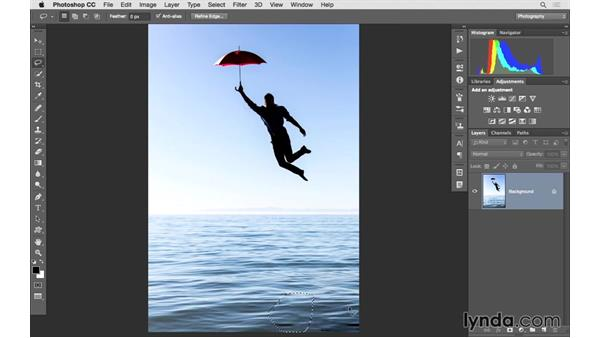 Using Content-Aware Fill to remove distractions: Photoshop CC 2015 for Photographers: Fundamentals