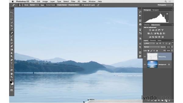 Seamless retouching with the healing tools: Photoshop CC 2015 for Photographers: Fundamentals
