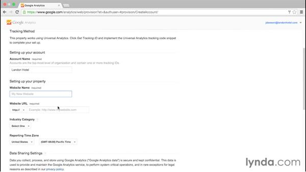 Creating your account: Google Analytics Essential Training