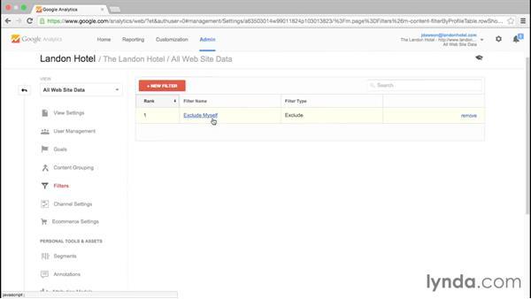 Setting account properties: Google Analytics Essential Training
