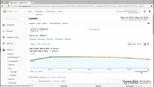 Using annotations: Google Analytics Essential Training