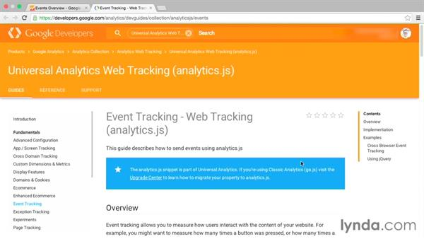 A closer look at event tracking: Google Analytics Essential Training