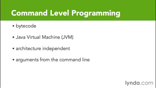 Exploring command level programming: Java Essential Training for Students