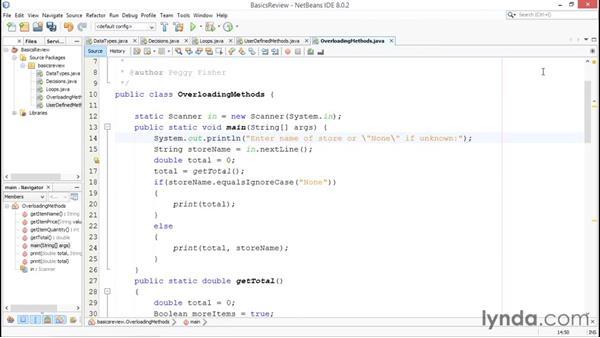 Understanding overloaded methods: Java Essential Training for Students
