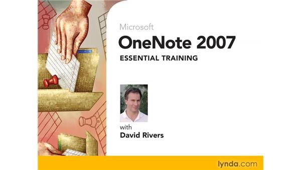 Goodbye: OneNote 2007 Essential Training
