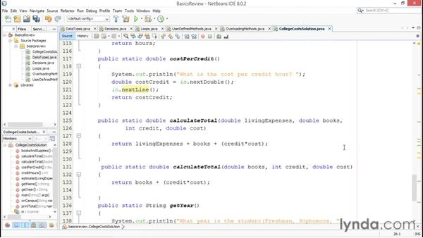 Solution: College cost app: Java Essential Training for Students
