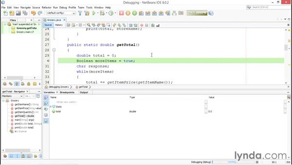 Stepping through the code: Java Essential Training for Students