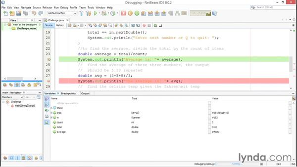 Solution: Debugging: Java Essential Training for Students