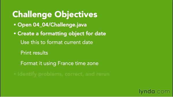 Challenge: API: Java Essential Training for Students
