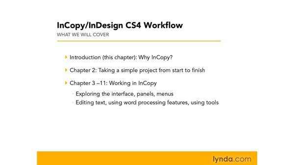 Title overview: InCopy CS4 and InDesign CS4 Workflow Essential Training