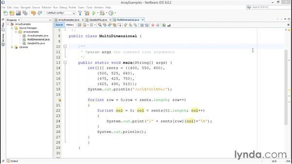 Utilizing 2D arrays: Java Essential Training for Students