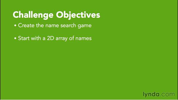 Challenge: Name finder: Java Essential Training for Students