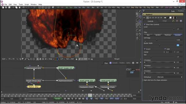 Color grading to create greater volume: VFX Techniques: Compositing an Explosion with Fusion 7