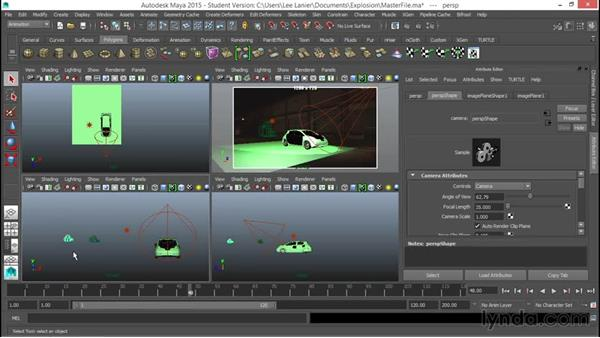 Overview of a master Maya shot: VFX Techniques: Compositing an Explosion with Fusion 7