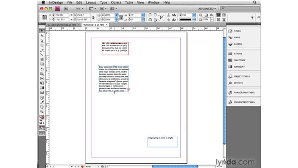 Understanding stories and frames: InCopy CS4 and InDesign CS4 Workflow Essential Training