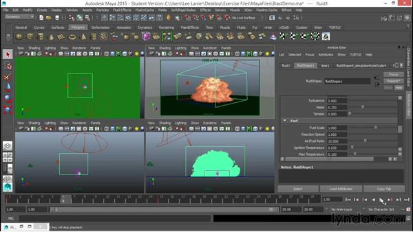Setting up an explosion: VFX Techniques: Compositing an Explosion with Fusion 7
