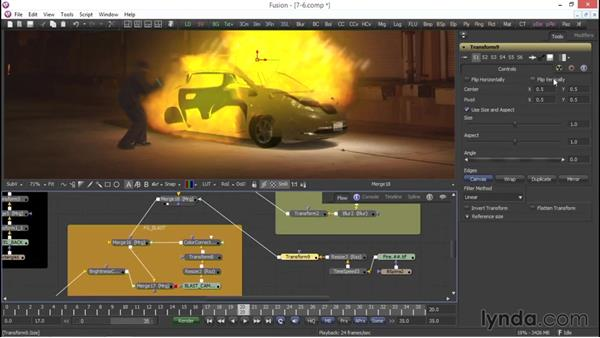 Adding a fire render: VFX Techniques: Compositing an Explosion with Fusion 7