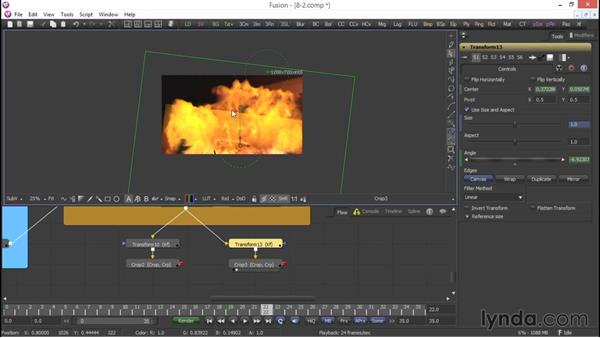 Creating a post-camera movement: VFX Techniques: Compositing an Explosion with Fusion 7