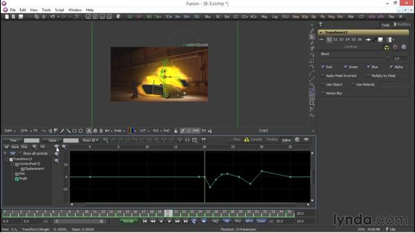Working in the Spline Editor: VFX Techniques: Compositing an Explosion with Fusion 7