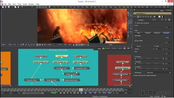 Fine-tuning and final color grading: VFX Techniques: Compositing an Explosion with Fusion 7