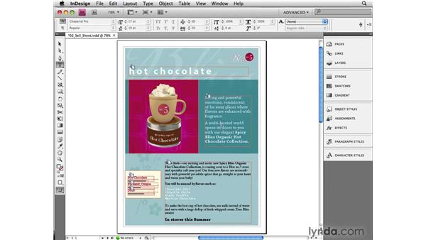 Completing a project in InDesign: InCopy CS4 and InDesign CS4 Workflow Essential Training