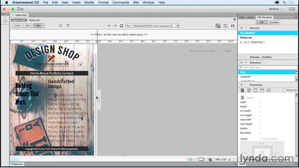 Adding and manipulating images: Creating a First Website in Dreamweaver CC 2015