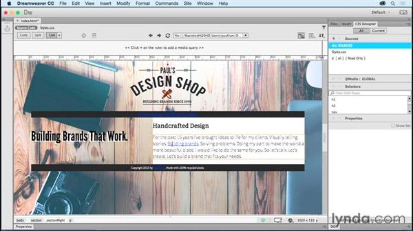 Adding links: Creating a First Website in Dreamweaver CC 2015