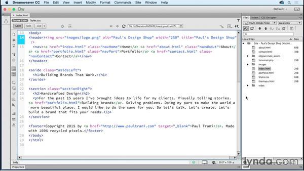 Next steps: Creating a First Website in Dreamweaver CC 2015