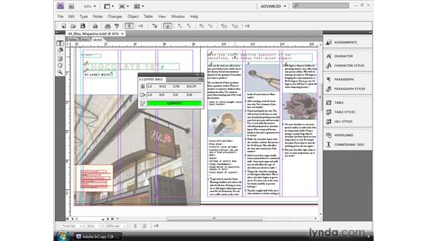 Copyfitting text: InCopy CS4 and InDesign CS4 Workflow Essential Training