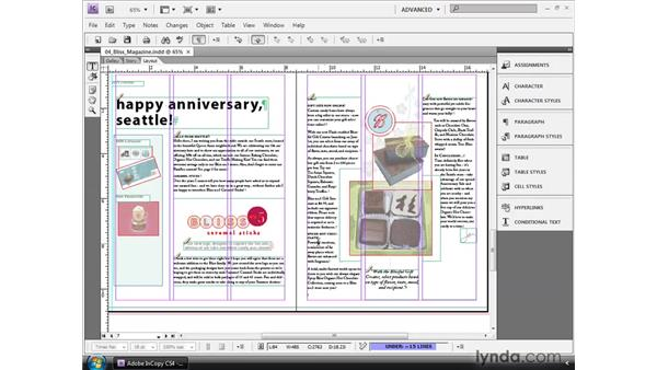 Inserting special characters: InCopy CS4 and InDesign CS4 Workflow Essential Training