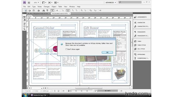 Working with read-only layouts: InCopy CS4 and InDesign CS4 Workflow Essential Training