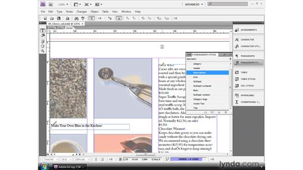 Applying styles for Copyfit: InCopy CS4 and InDesign CS4 Workflow Essential Training