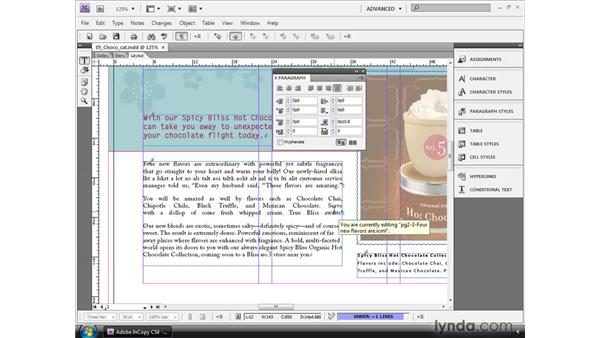 Applying local paragraph formatting: InCopy CS4 and InDesign CS4 Workflow Essential Training