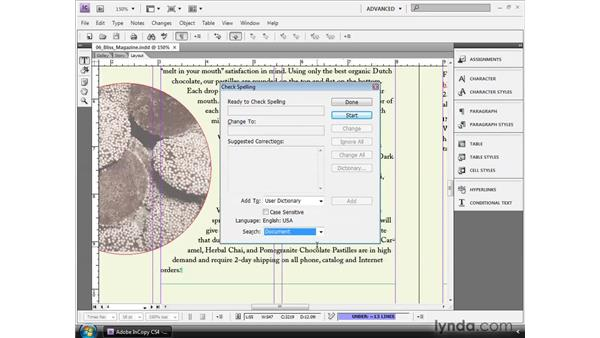 Checking spelling : InCopy CS4 and InDesign CS4 Workflow Essential Training