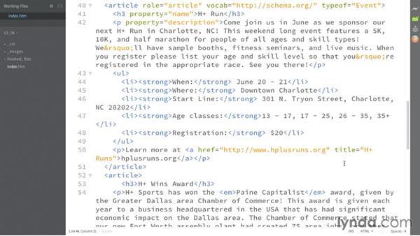 Providing dates: HTML: Structured Data
