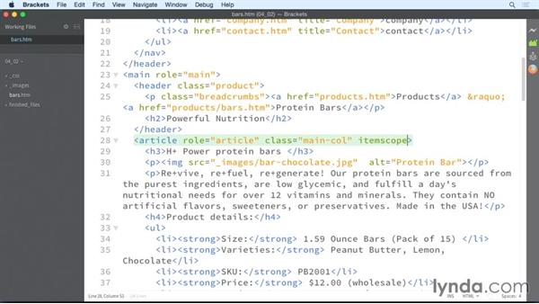 Structuring products: HTML: Structured Data