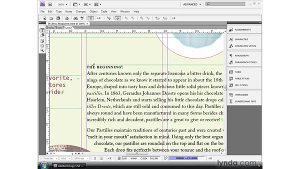 Working with Autocorrect: InCopy CS4 and InDesign CS4 Workflow Essential Training