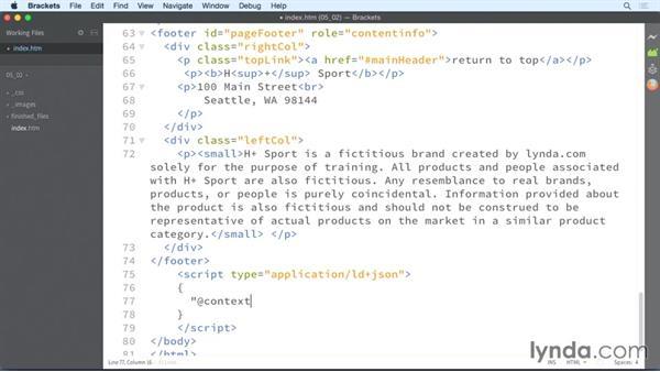 Identifying your organization: HTML: Structured Data