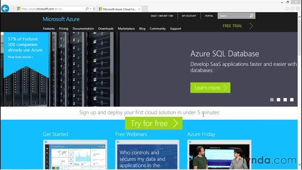 Using Cloud Services: Understanding Microsoft Azure Core Functionalities