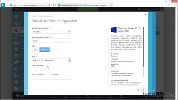 Creating virtual machines in Azure: Understanding Microsoft Azure Core Functionalities