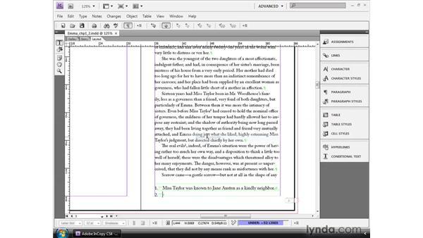 Adding footnotes: InCopy CS4 and InDesign CS4 Workflow Essential Training