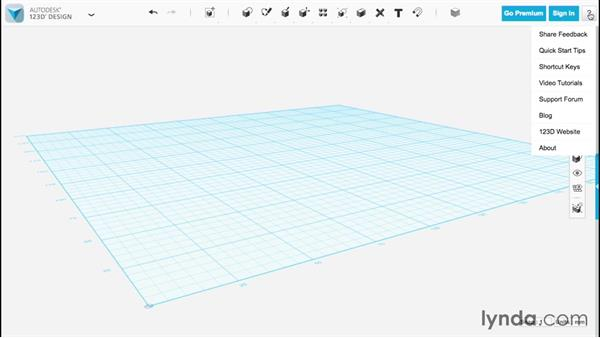 Exploring the interface: Up and Running with 123D Design